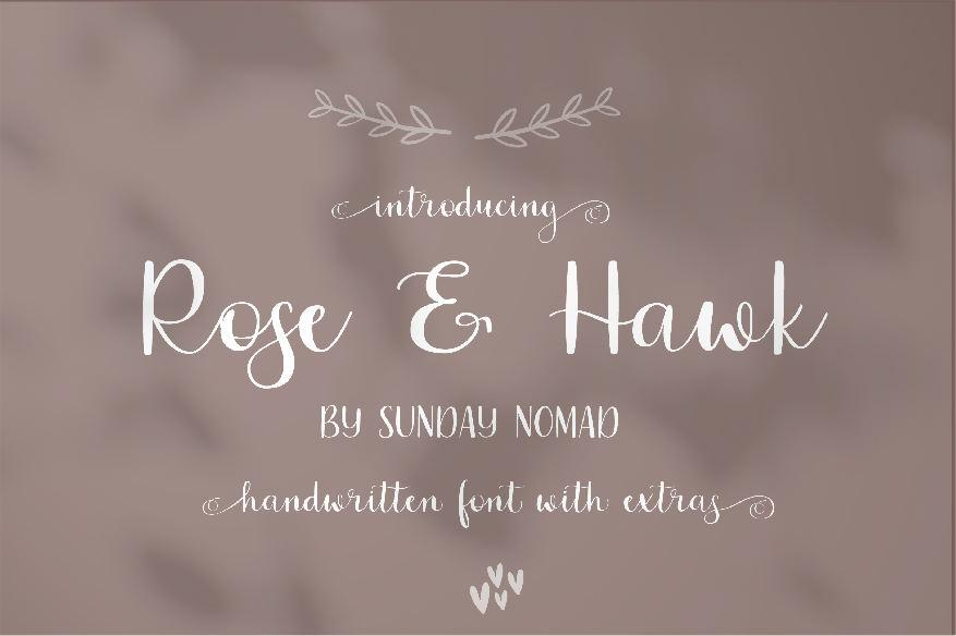 Rose & Hawk Font