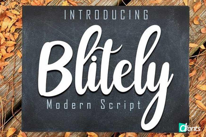 Blitely Modern Script