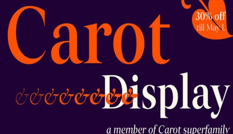Carot Display Font Family