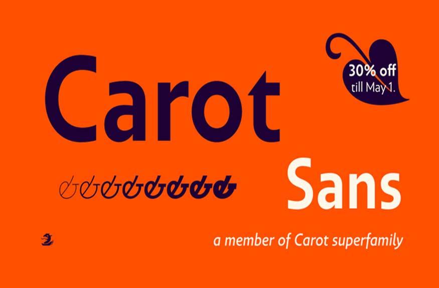 Carot Sans Font Family