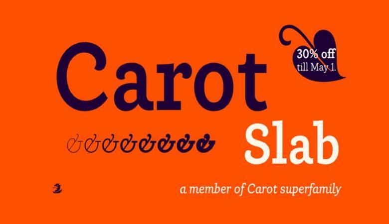 Carot Slab Font Family
