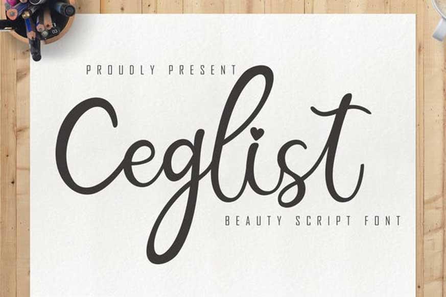 Ceglist Beauty Script Font