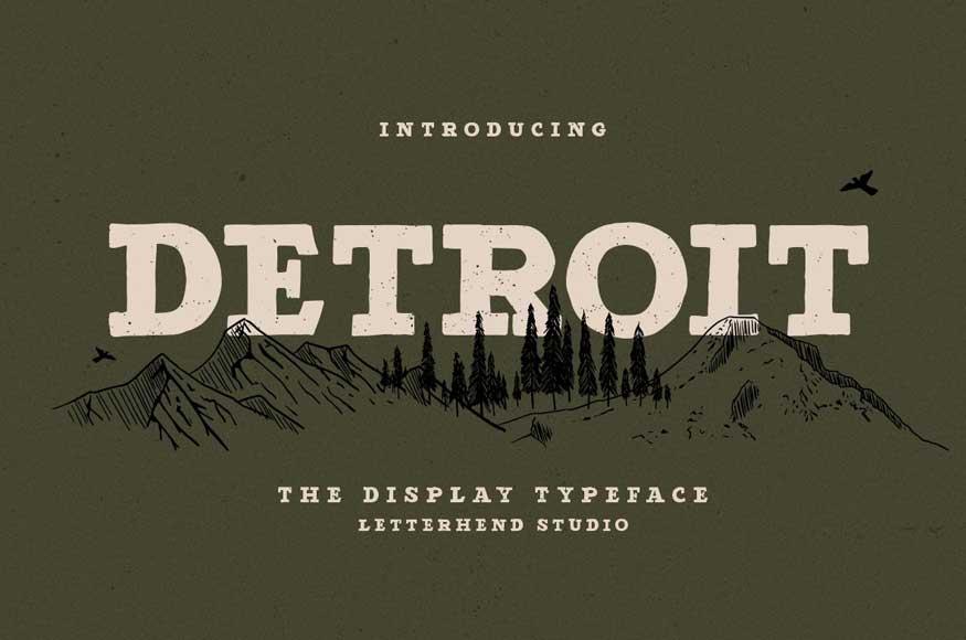 Detroit - Slab Serif Typeface