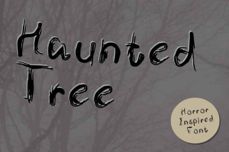 Haunted Tree Font