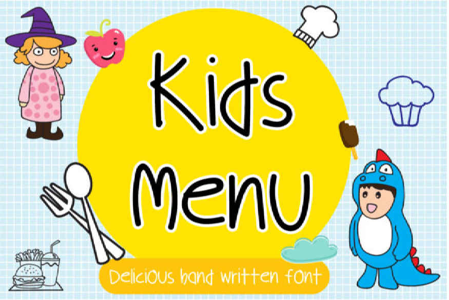 Kids Menu Font