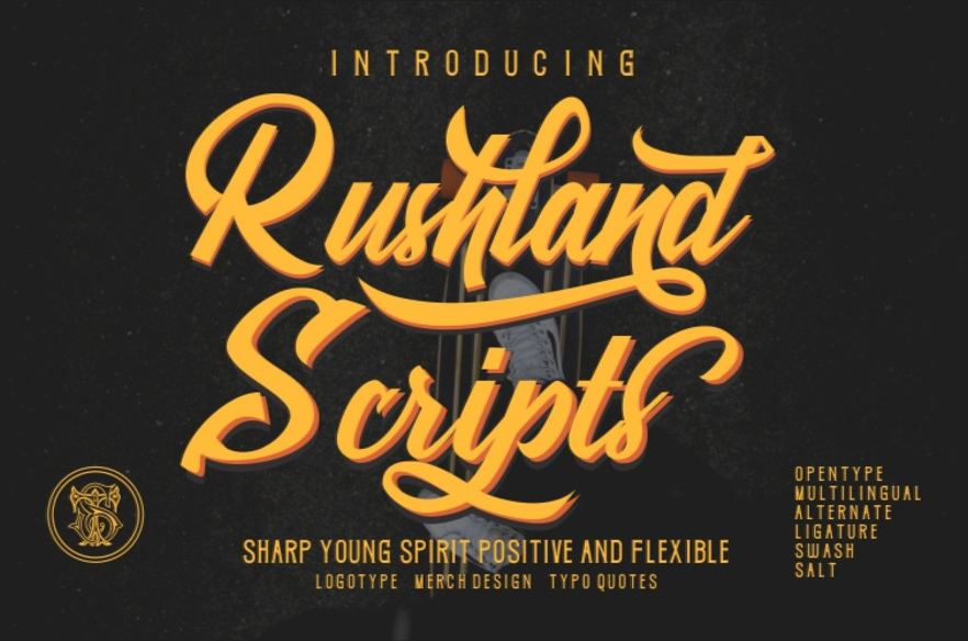 Rushland Script Sporty Font