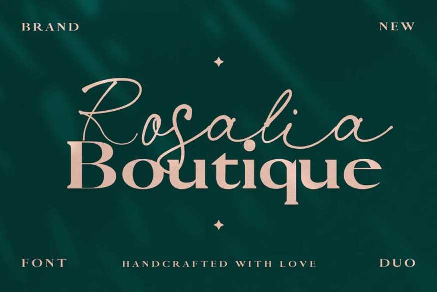 Rosalia Boutique- Handwritten Script and Serif Duo