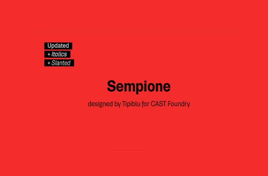 Sempione Font Family