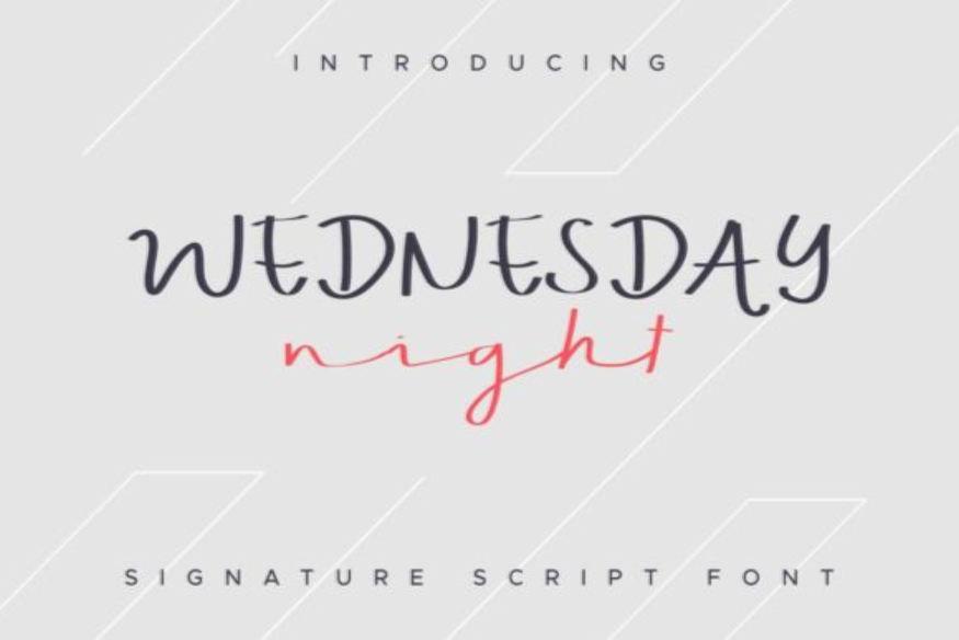 Wednesday Night Font