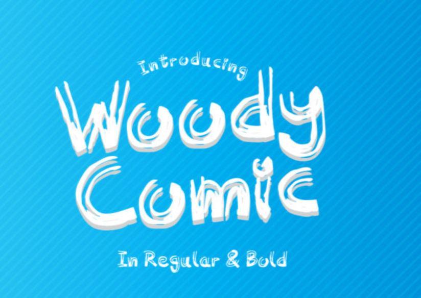 Woody Comic Font