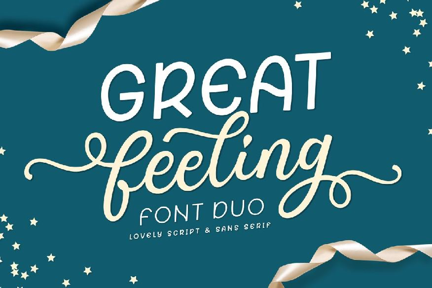 Great Feeling / Lovely Font Duo