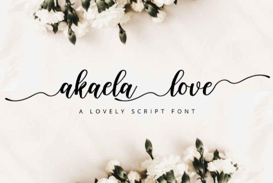 Akalea Love Font