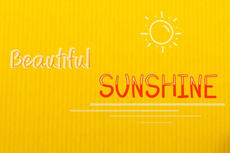 Beautiful Sunshine Font