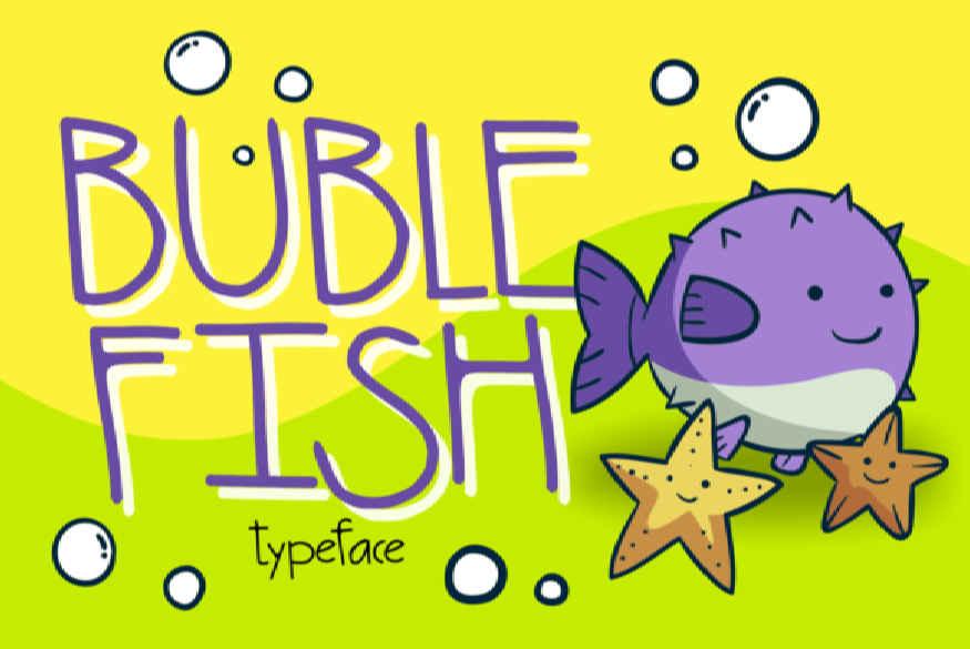 Buble Fish Font