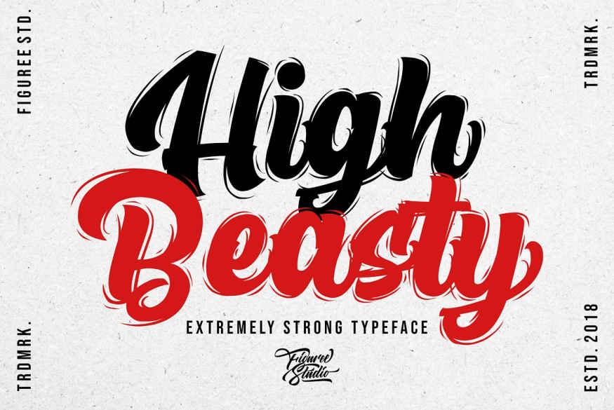 High Beasty Font