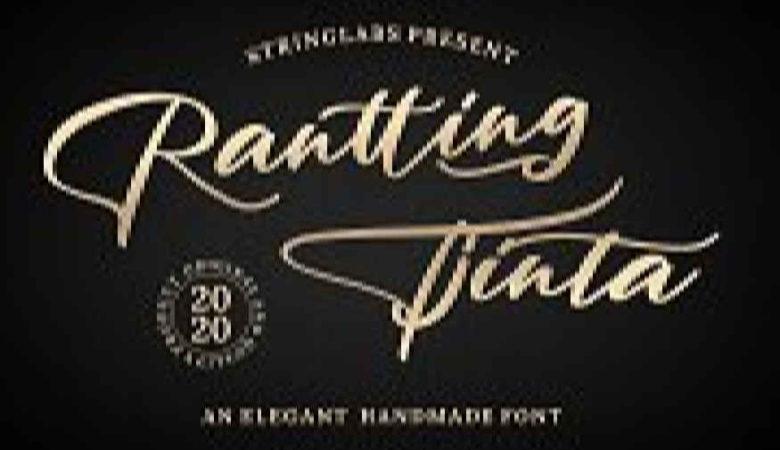 Rantting Tjinta - Handwritten Font