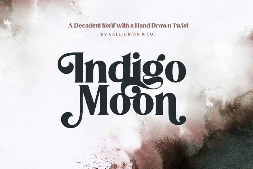 NEW   Indigo Moon Decadent Serif