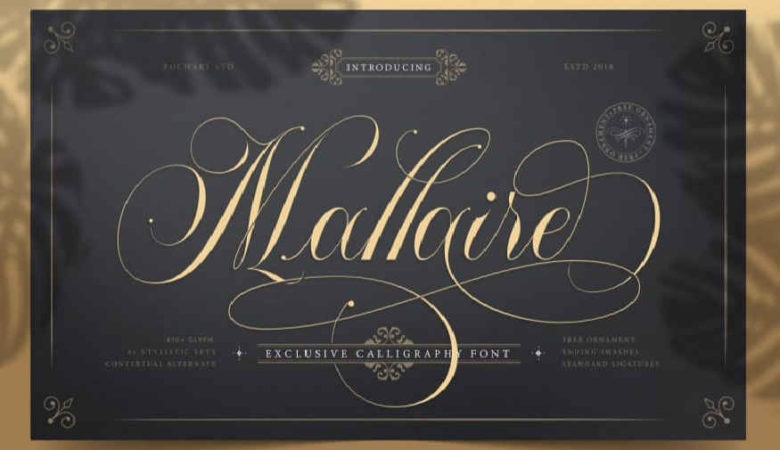 Mallaire Calligraphy Font