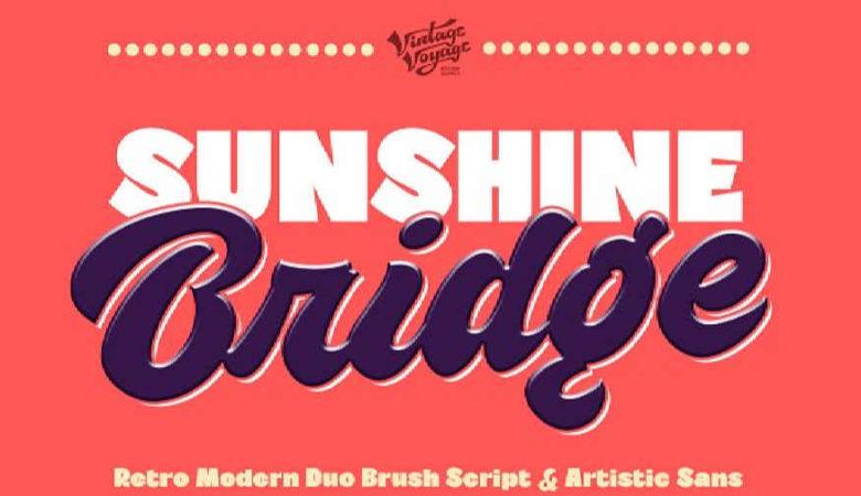 VVDS Sunshine Bridge Font Family