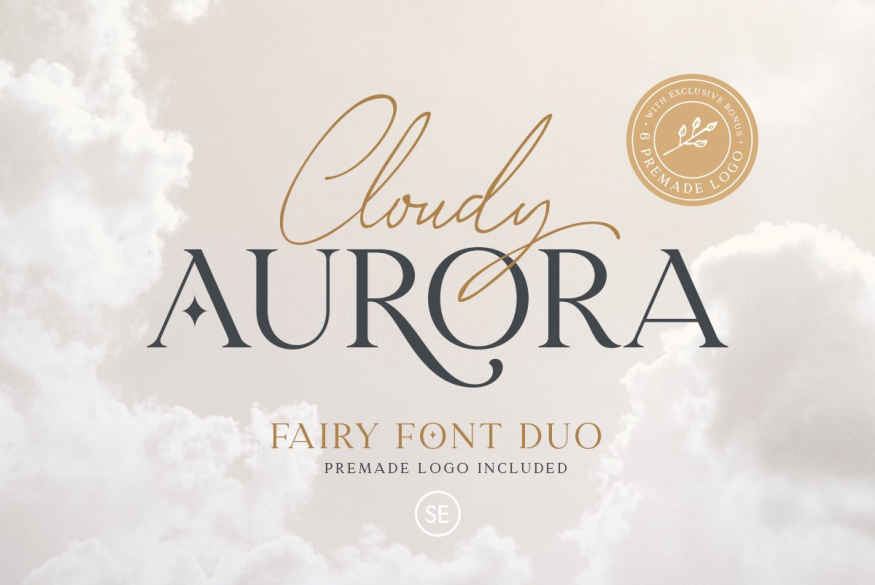 Cloudy Aurora - Font Duo (+LOGOS)