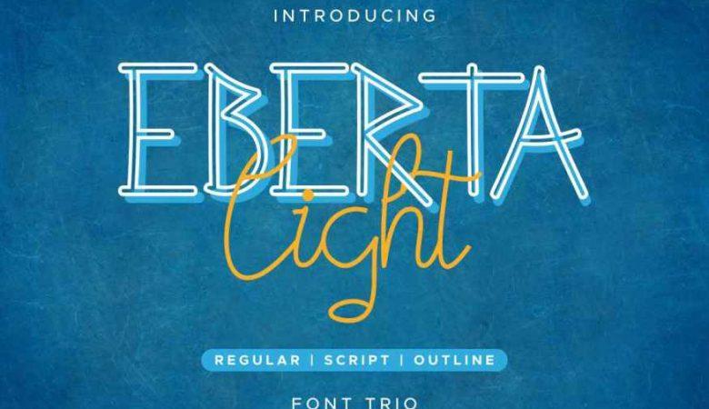 Eberta Light Font