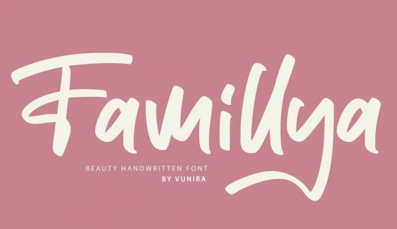 Famillya Handwritten Font