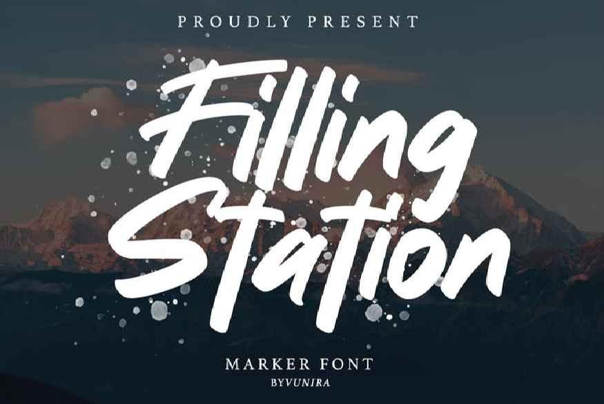 Filling station Marker Font