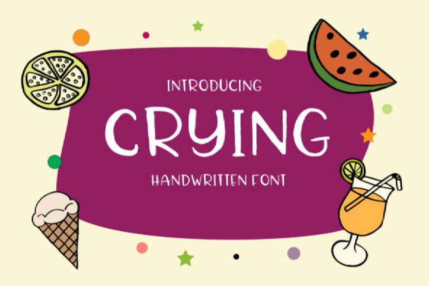 Crying Font