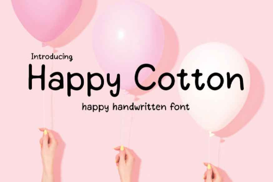 Happy Cotton Font