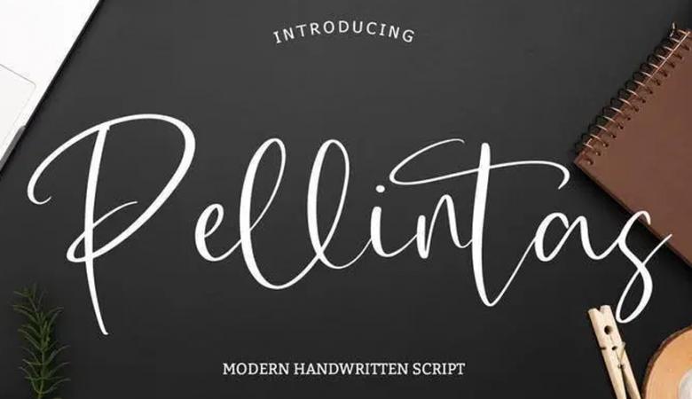 Pellintas Modern Handwritten Script