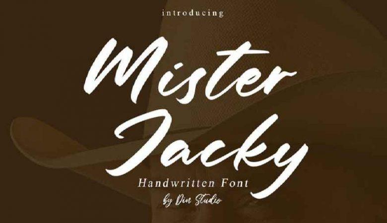 Mister Jacky - Handwritten Font