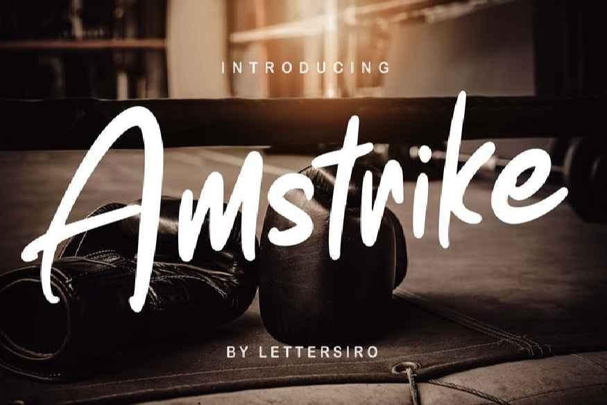 Amstrike Font
