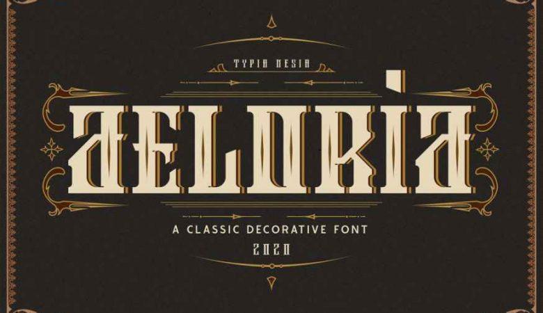 Aeloria Vintage Decorative Font