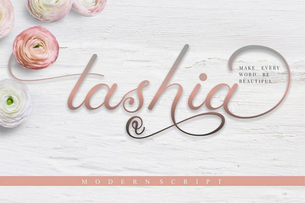 Tashia Calligraphy Script Font