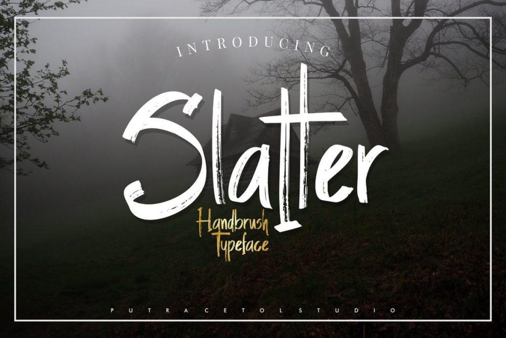 Slatter Handbrush Font Free Download