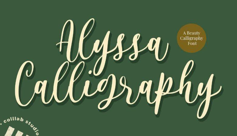 Alyssa Calligraphy Font Free Download