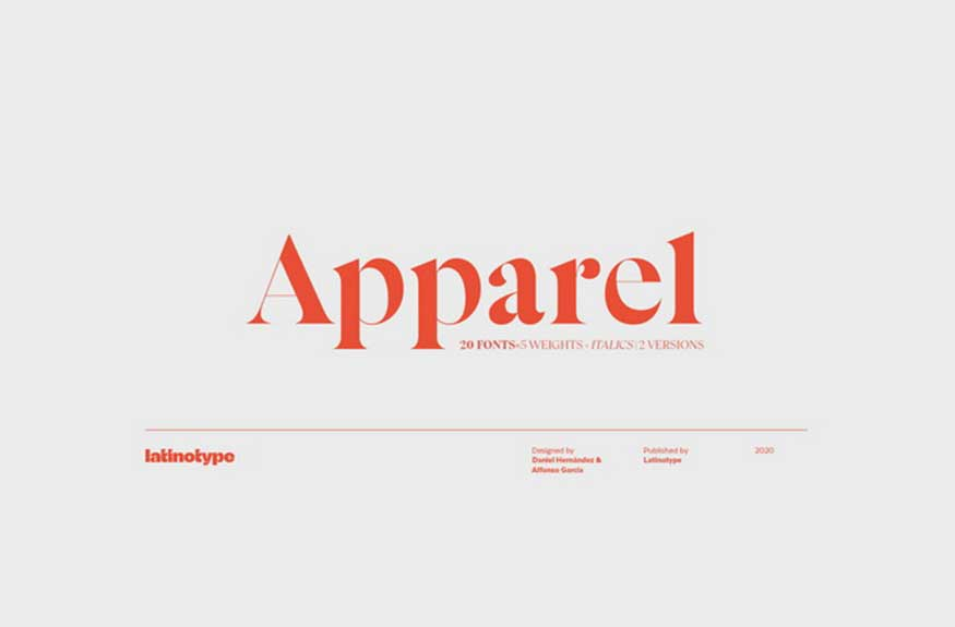 Apparel Font Family Free Download