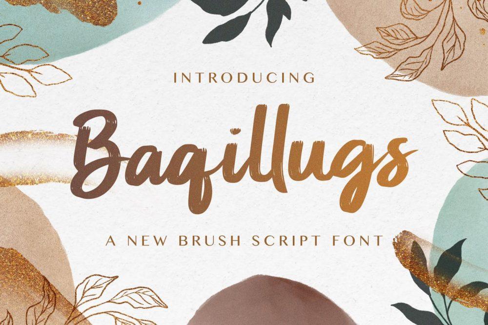 Baqillugs - Brush Script Font