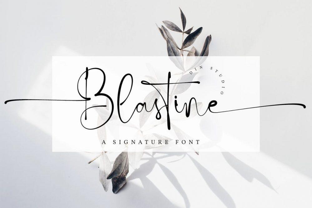 Blastine Signature Font
