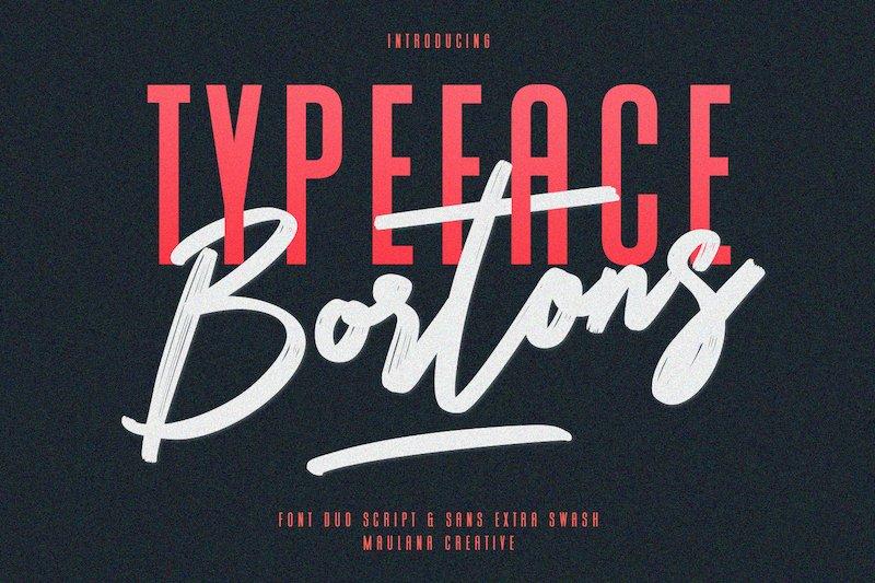 Bortons Font Duo Swash Typeface