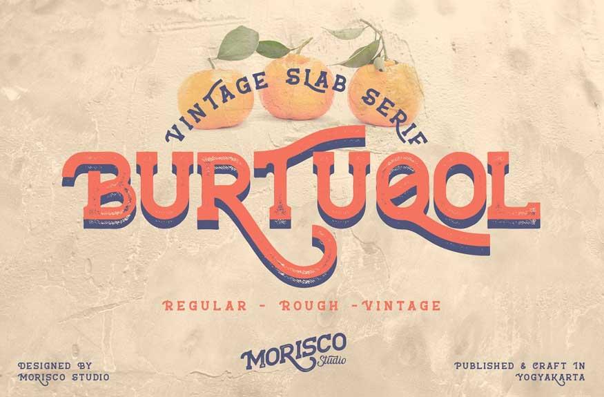 Burtuqol Vintage Slab Serif Free Download