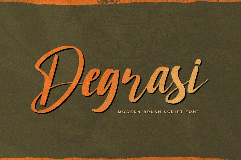 Degrasi Script Font