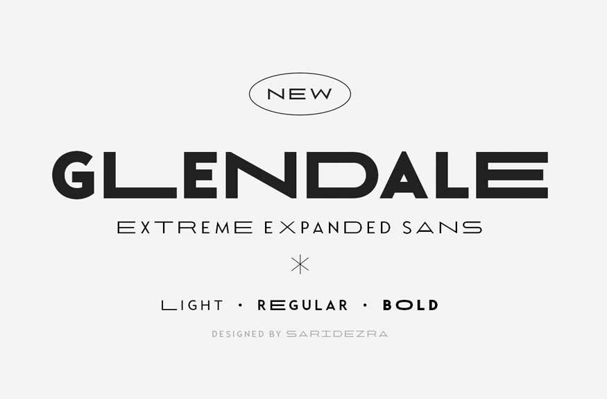 Glendale - Extreme Expanded Sans Font Free Download