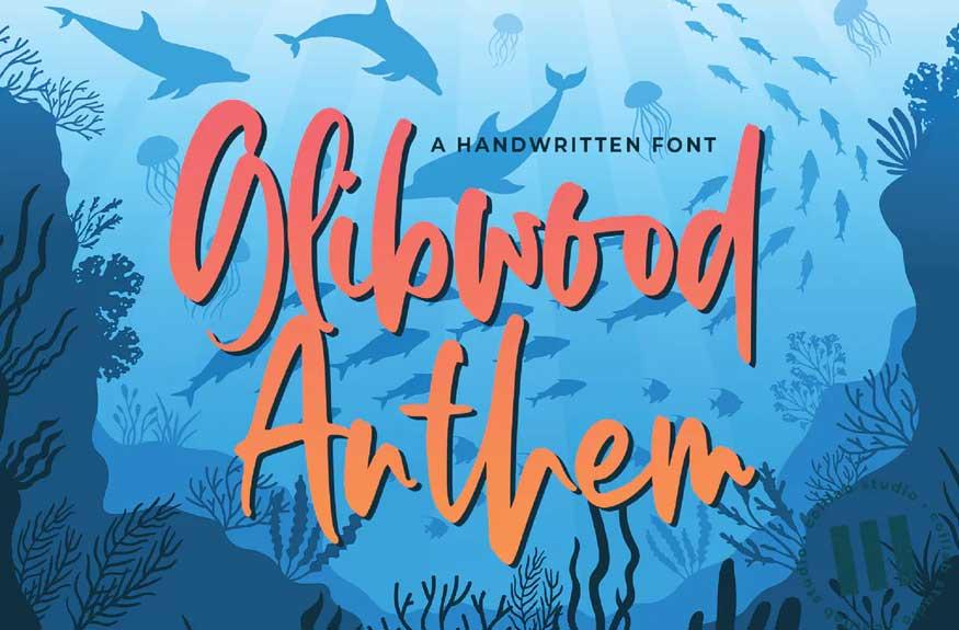 Glibwood Anthem Font Free Download