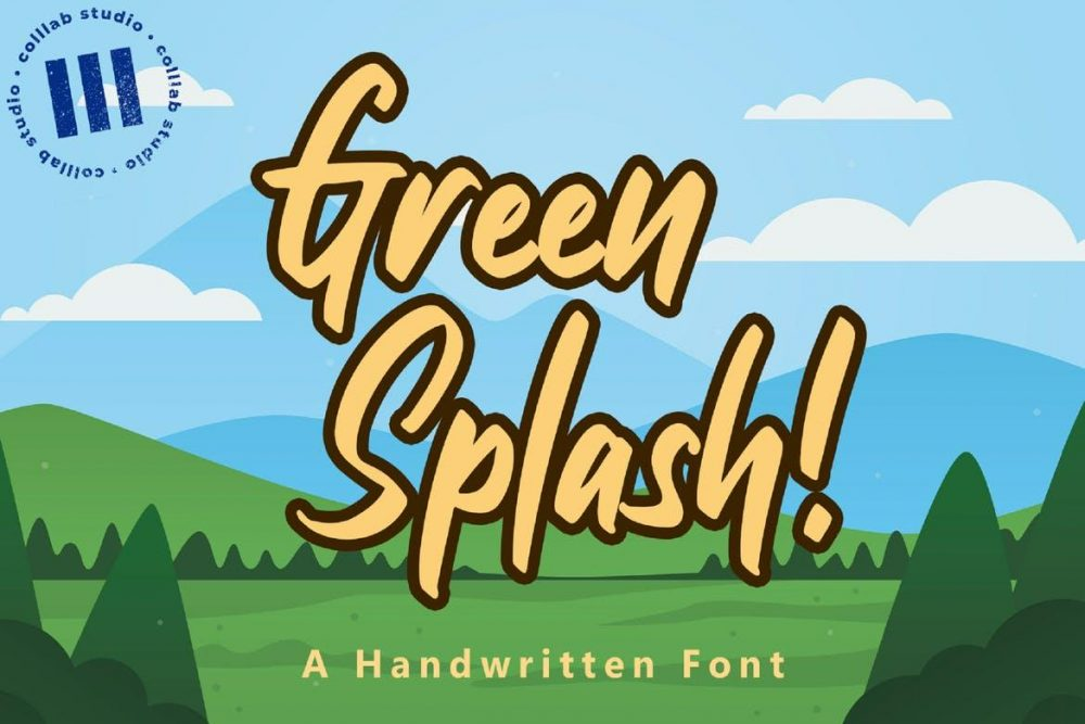 Green Splash! Font Free Download