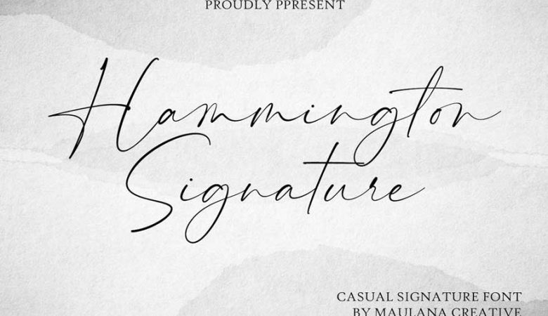 Hammington Signature Font