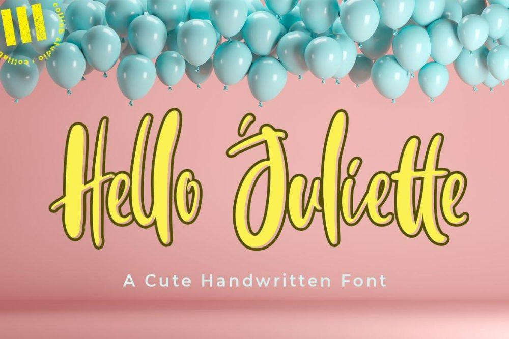 Hello Juliette Font Free Download