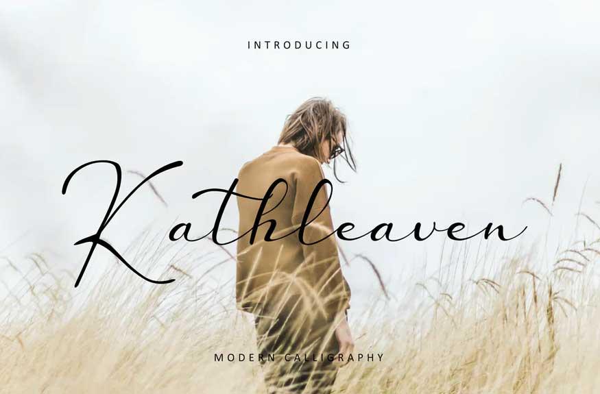 Kathleaven Font Free Download