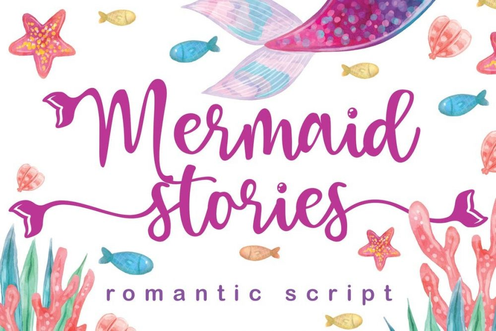 Mermaid Stories Font Free Download