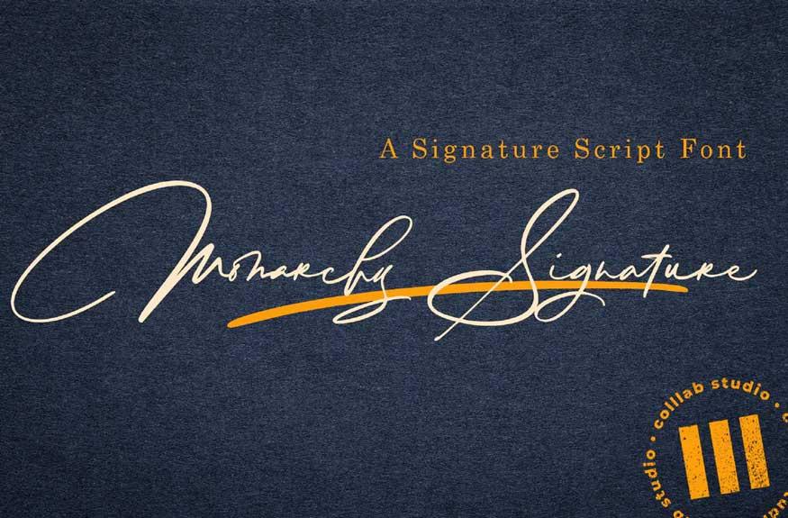 Monarchy Signature Font Free Download